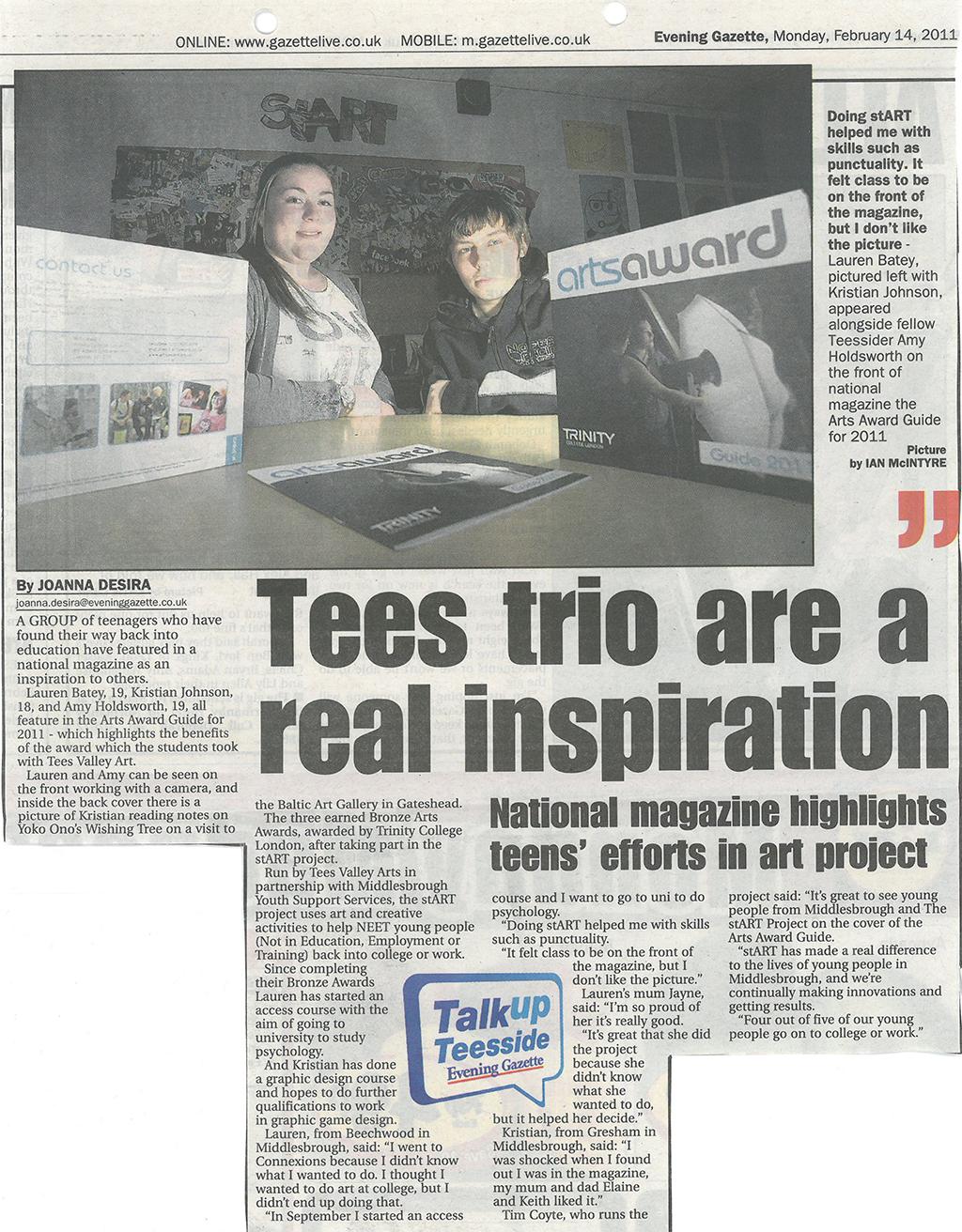 2011-02-14, Evening Gazette