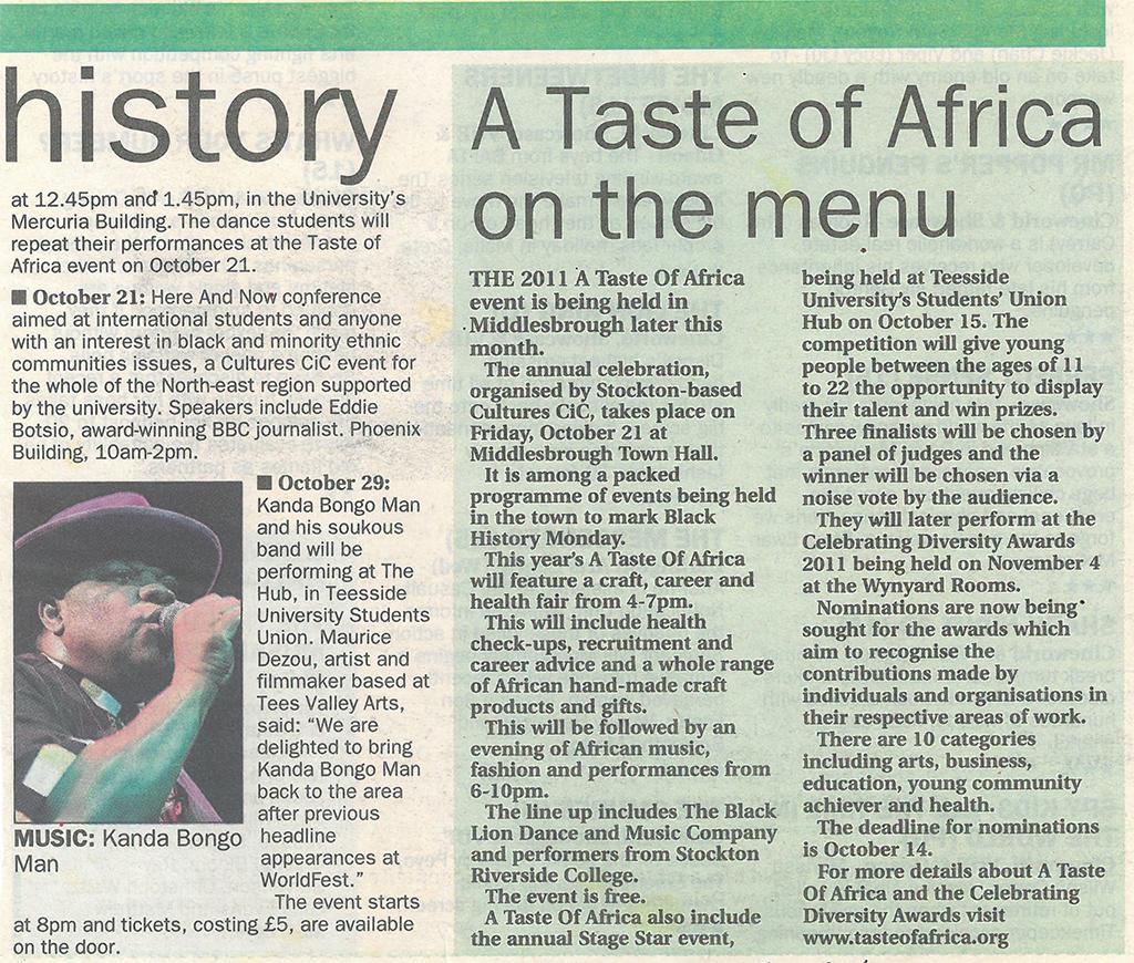 2011- Evening Gazette, History