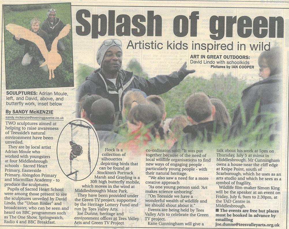 Press 12 Evening Gazette Splash of green