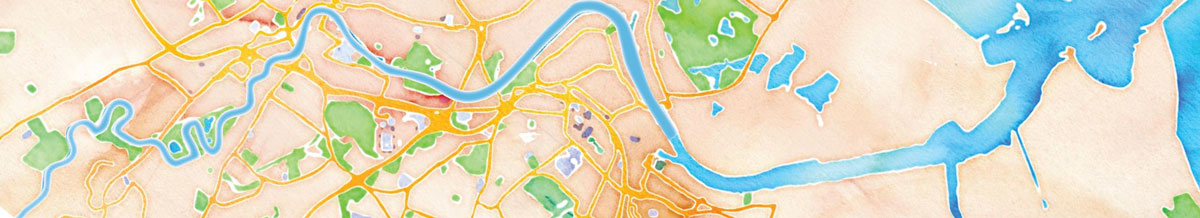 River Tees Map