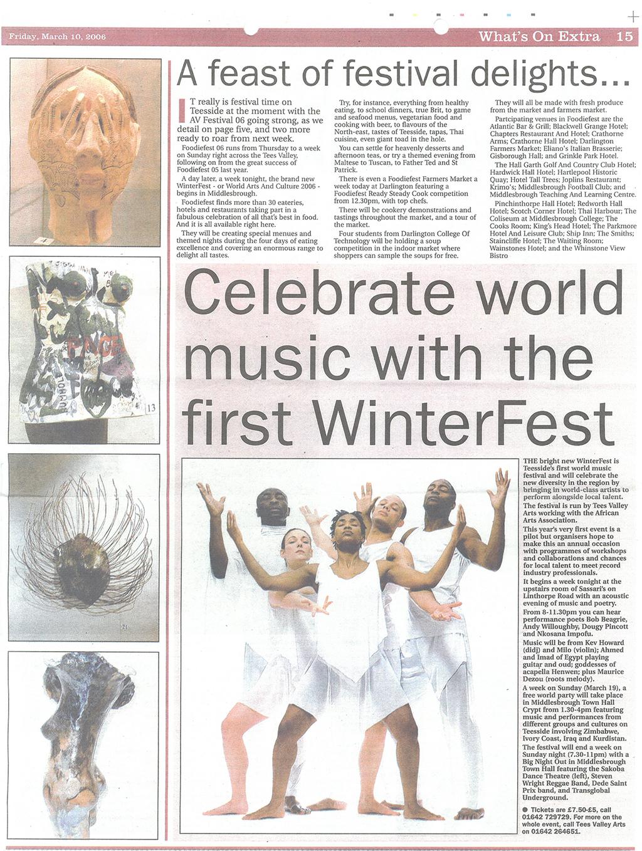 2006-03-10, Celebrate world music