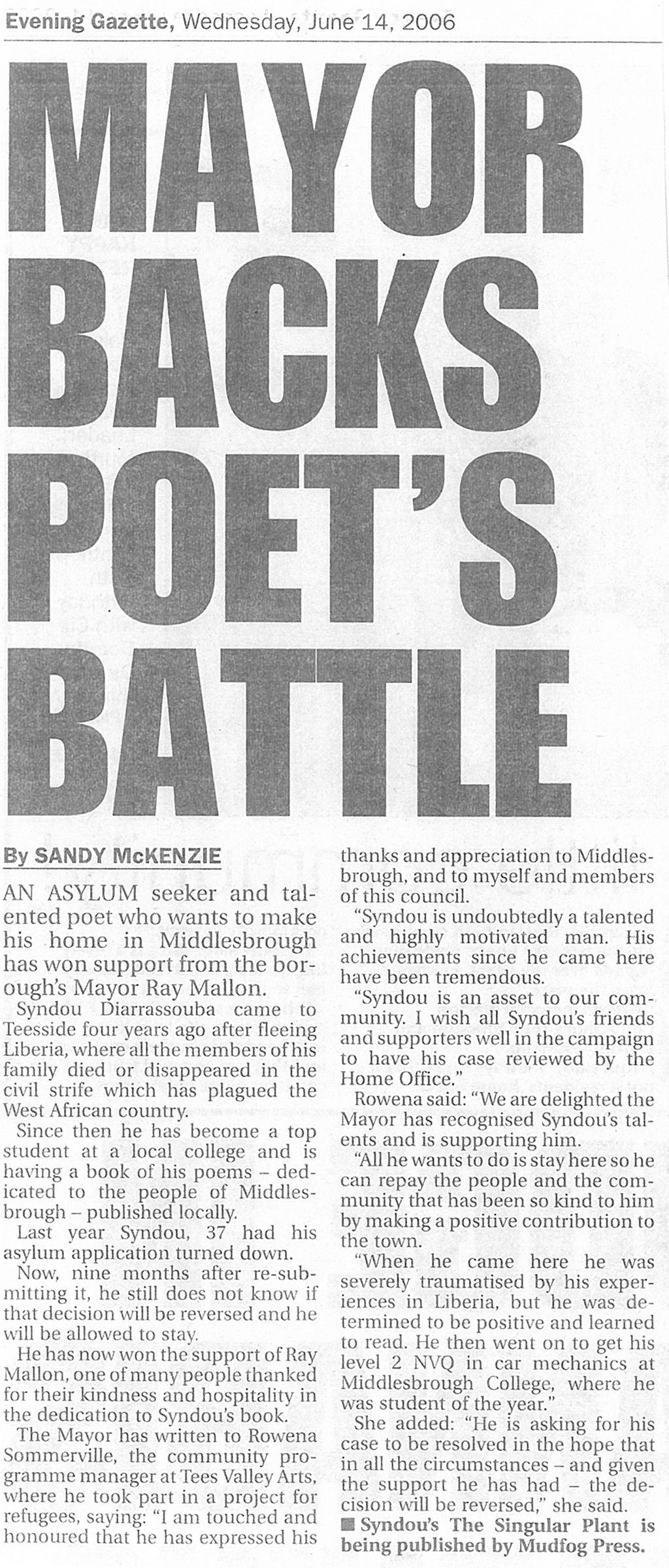 2006-06-14, Evening Gazette