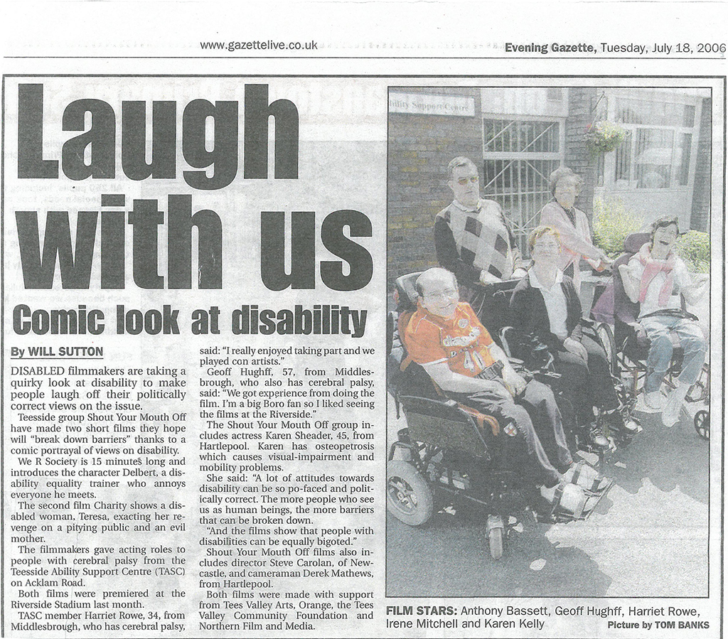 2006-07-18, Evening Gazette Laugh with us