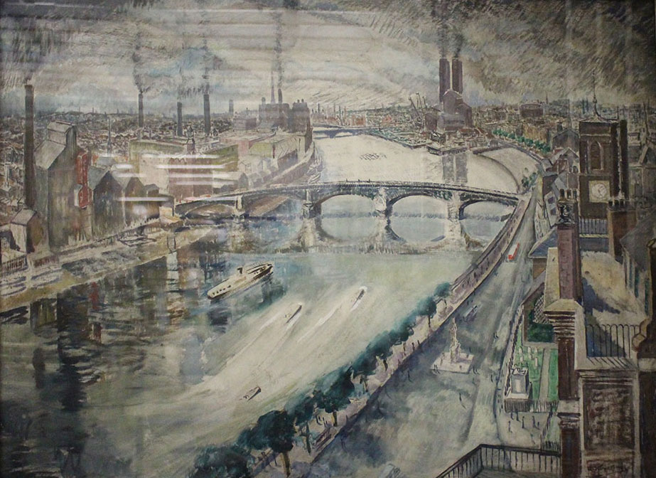Battersea Bridge by Alexander Stuart-Hill