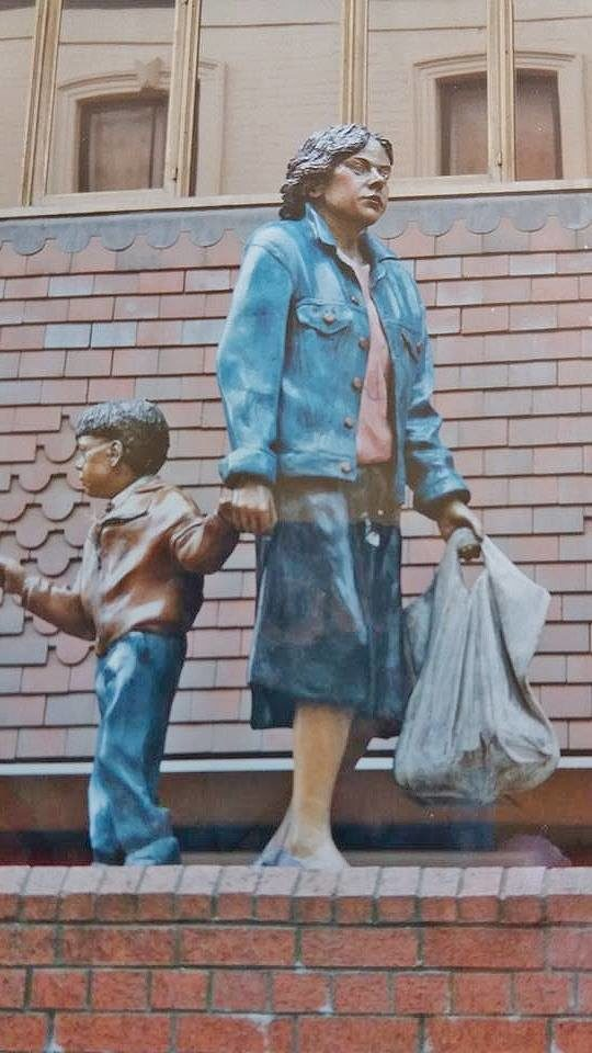 The Shopper and child by Graham Ibbeson